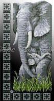 """Вишивка бісером """"Слони"""" (30x50)"""
