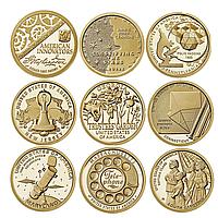 Набор из 9 монет 1 доллар. Американские инновации. США. 2018-2020 гг. UNC