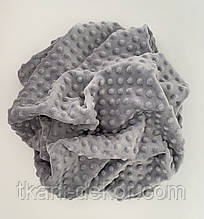 Ткань плюшевая Minky Dots светло-серый (пупырышки)