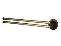 Держатель полотенец двойной поворотный, цвет бронза