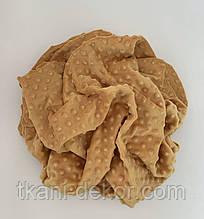 Плюшевая ткань Minky горчица (пупырка)