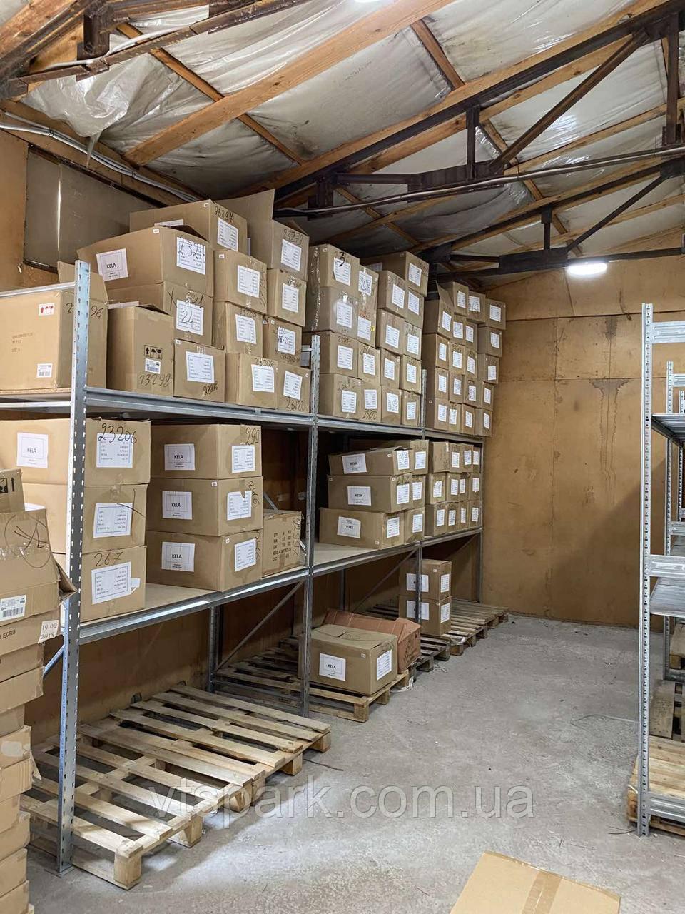 Стеллаж полочный оцинкованный 2000х2006х500 мм, 700кг на полку 2 полки с ДСП 16мм для гаража, склада, магазина