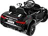 Дитячий електромобіль Ауді з шкіряним сидінням, Audi R8 Spyder чорний, фото 7