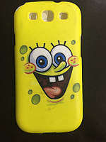 УЦЕНКА! Чехол Губка Боб для Samsung Galaxy S3/S3 duos - отпечаток краски