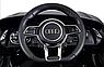 Дитячий електромобіль Ауді з шкіряним сидінням, Audi R8 Spyder чорний, фото 10