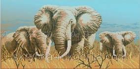 """Вишивка бісером """"Слони"""" (30x60)"""