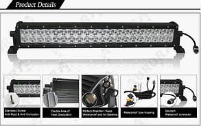 Дополнительная LED фара ALO-10- P4BT 88W 16 Oslon + 4 Cree 9-36V  IP69  8200 Люмен, Комби свет , фото 3