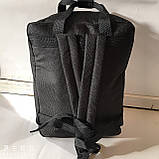 Міський текстильний чорний рюкзак з двома ручками 27*37 см, фото 2