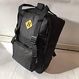 Міський текстильний чорний рюкзак з двома ручками 27*37 см, фото 3