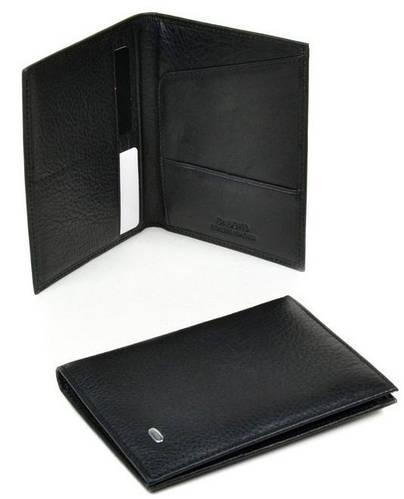 Удобная обложка на паспорт из натуральной кожи dr.Bond P70 black черный