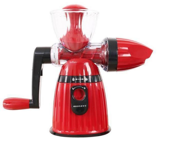 Соковыжималка Meileyi 2в1 Juicer and Ice Cream шнековая ручная универсальная с набором насадок Красная