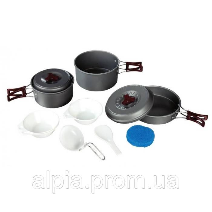 Набор посуды из анодированного алюминия на 2-3 персоны Tramp TRC- 024