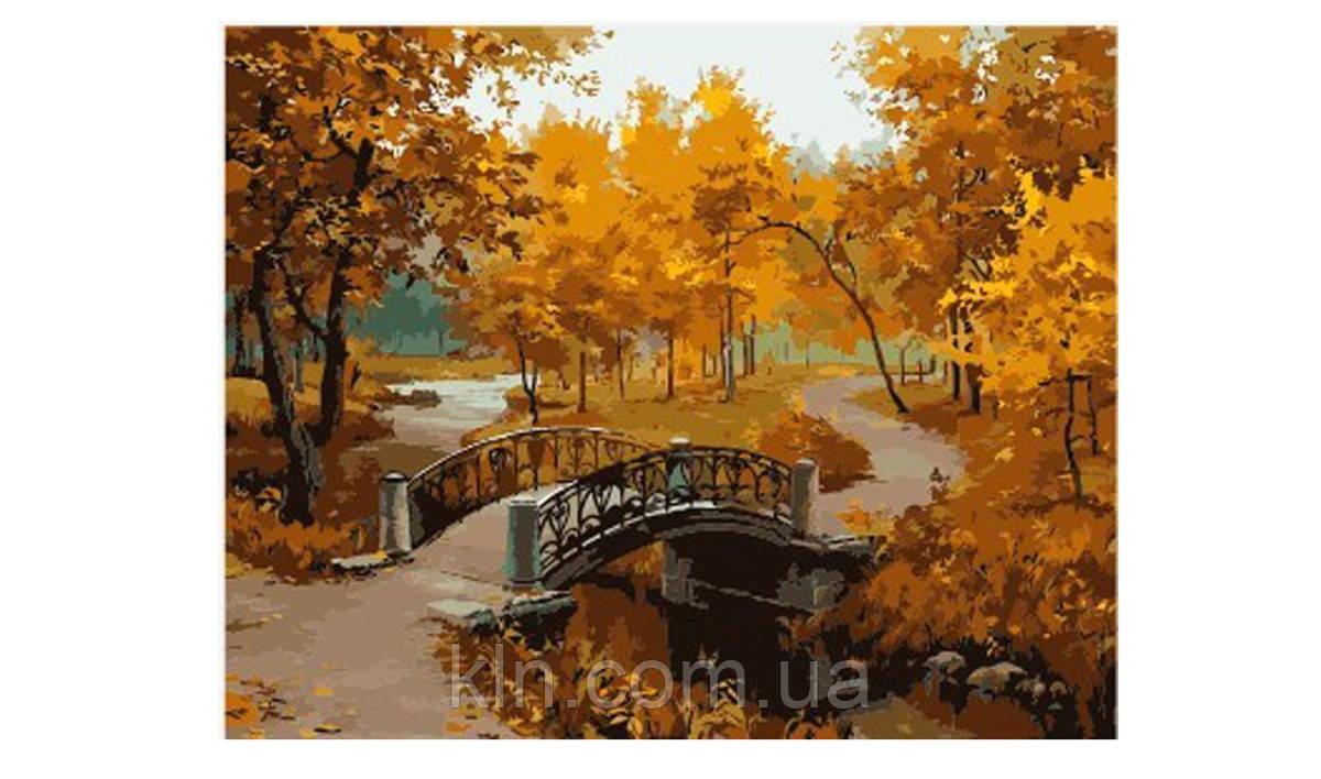 Картина по номерам Menglei Осенний парк (мост) MG287 40 х 50 см
