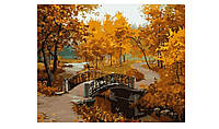 Картина по номерам Menglei Осенний парк (мост) MG287 40 х 50 см, фото 1