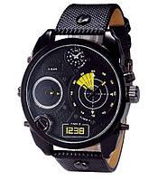 мужские стильные черные  часы  Dz Brave (Дизель Брейв), копия