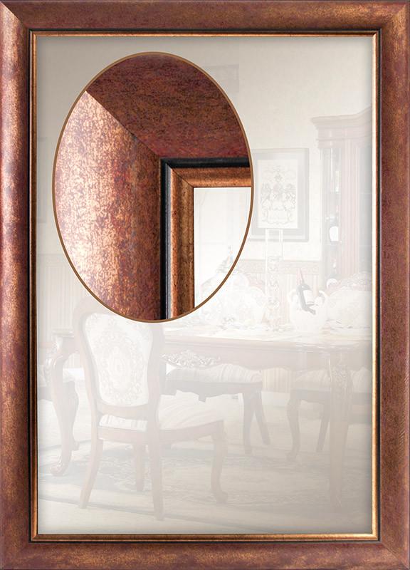 Дзеркало в багетній рамі для передпокої спальні