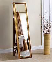 Підлогове дзеркало в золотій рамі 1650х400 мм, фото 1
