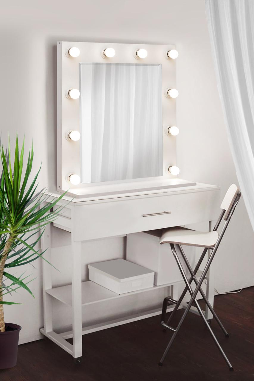 Зеркало для макияжа с подсветкой 700х700 мм | Дзеркало для макіяжу з підсвічуванням 700х700 мм