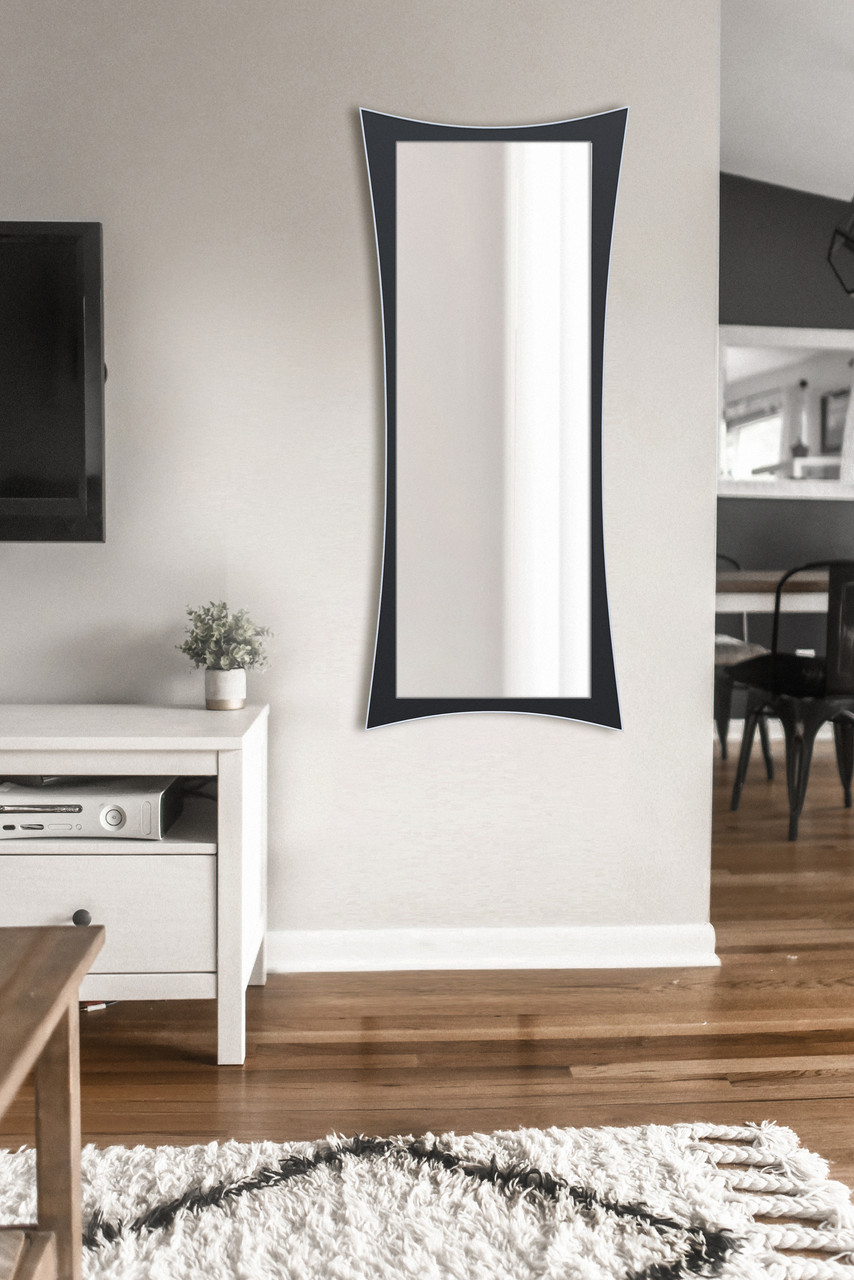 Зеркало настенное черно -белое 1300х550 мм | Дзеркало настінне, чорно -біле 1300х550 мм