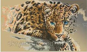 """Вишивка бісером """"Леопард"""" (40x60)"""