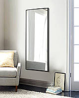 Зеркало прямоугольное черное 1300 х 600 мм | Дзеркало прямокутне, чорне 1300 х 600 мм, фото 1