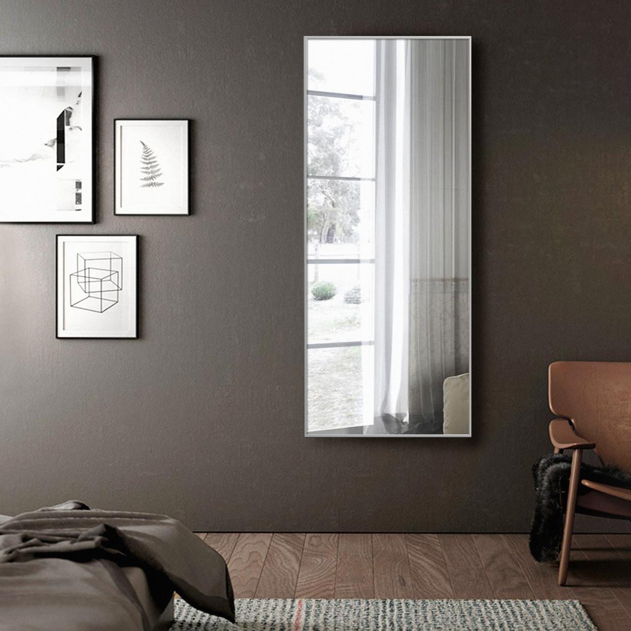 Зеркало в серой алюминиевой раме | Дзеркало в сірій алюмінієвій рамі