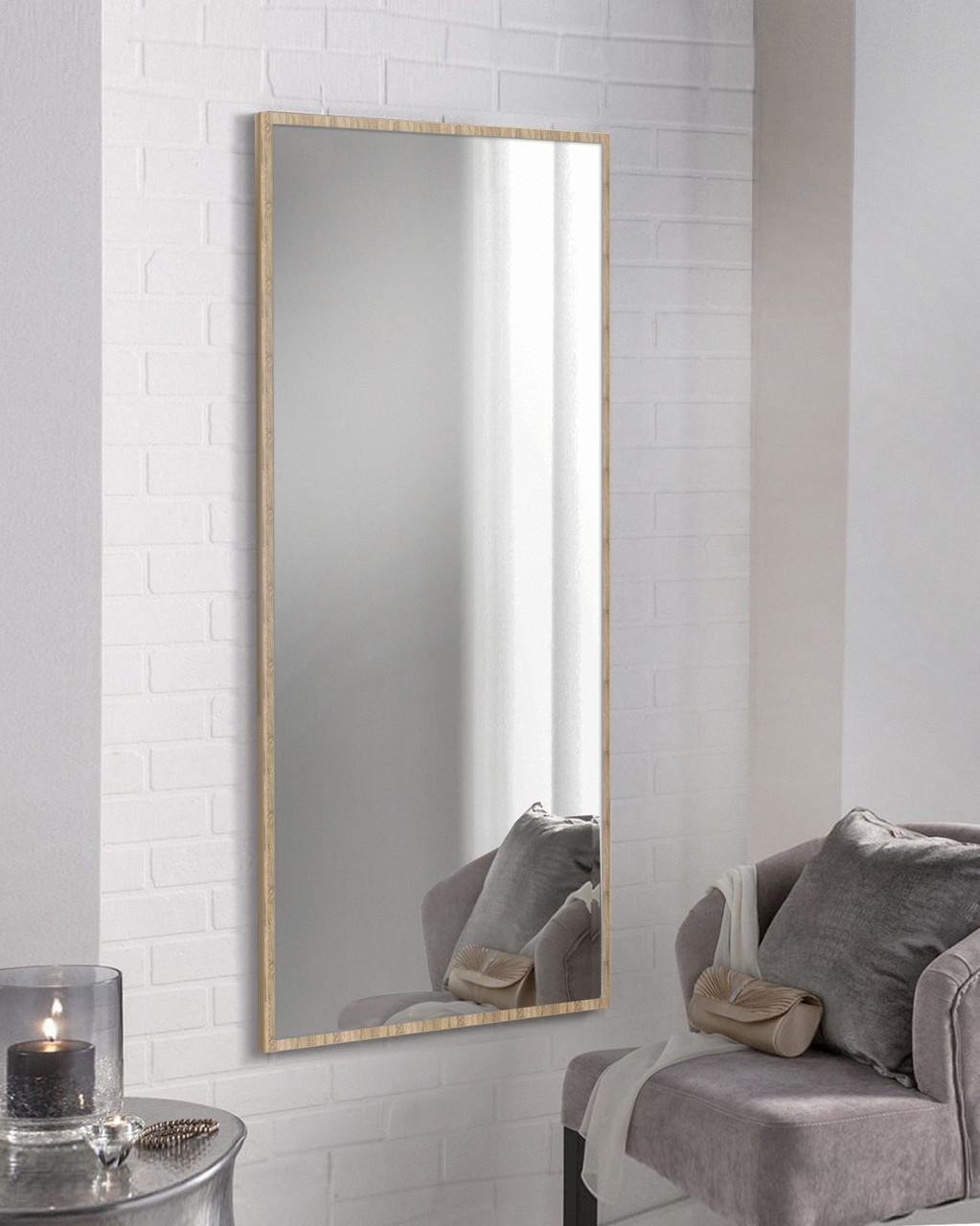 Зеркало настенное дуб сонома 1300х600 мм | Дзеркало настінне дуб сонома 1300х600 мм