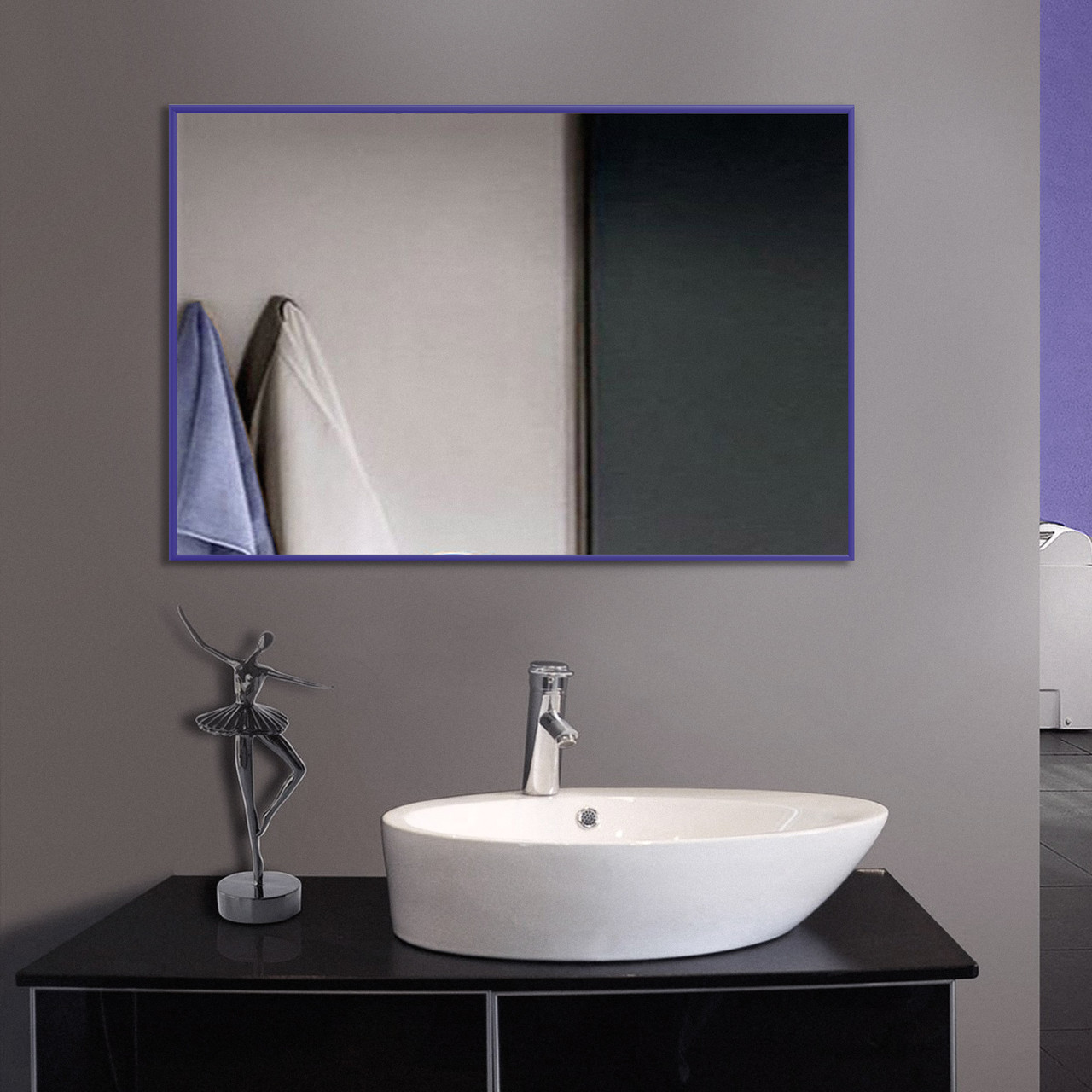 Сиреневое зеркало в рост, алюминий 400x600 | Бузкове дзеркало в зростання, алюміній 400x600