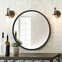 Зеркало 800мм белое Черный   Дзеркало 800мм біле Чорний, фото 1