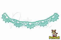 Мини декор Кружево вязаное Аквамариновое 20X3 см HandMade