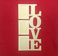 """Фоторамка """"LOVE"""" на 3 фотографии"""