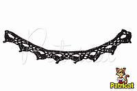 Мини декор Кружево вязаное Черное 20X1.7 см HandMade