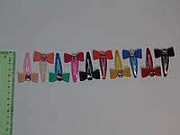 Хлопушки для волос с однотонными бантиками и пряжечкой