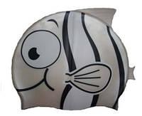 Детская шапочка для плавания серебристого цвета «Плавнички», фото 1