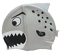 Детская шапочка для плавания серебристого цвета «Плавнички»