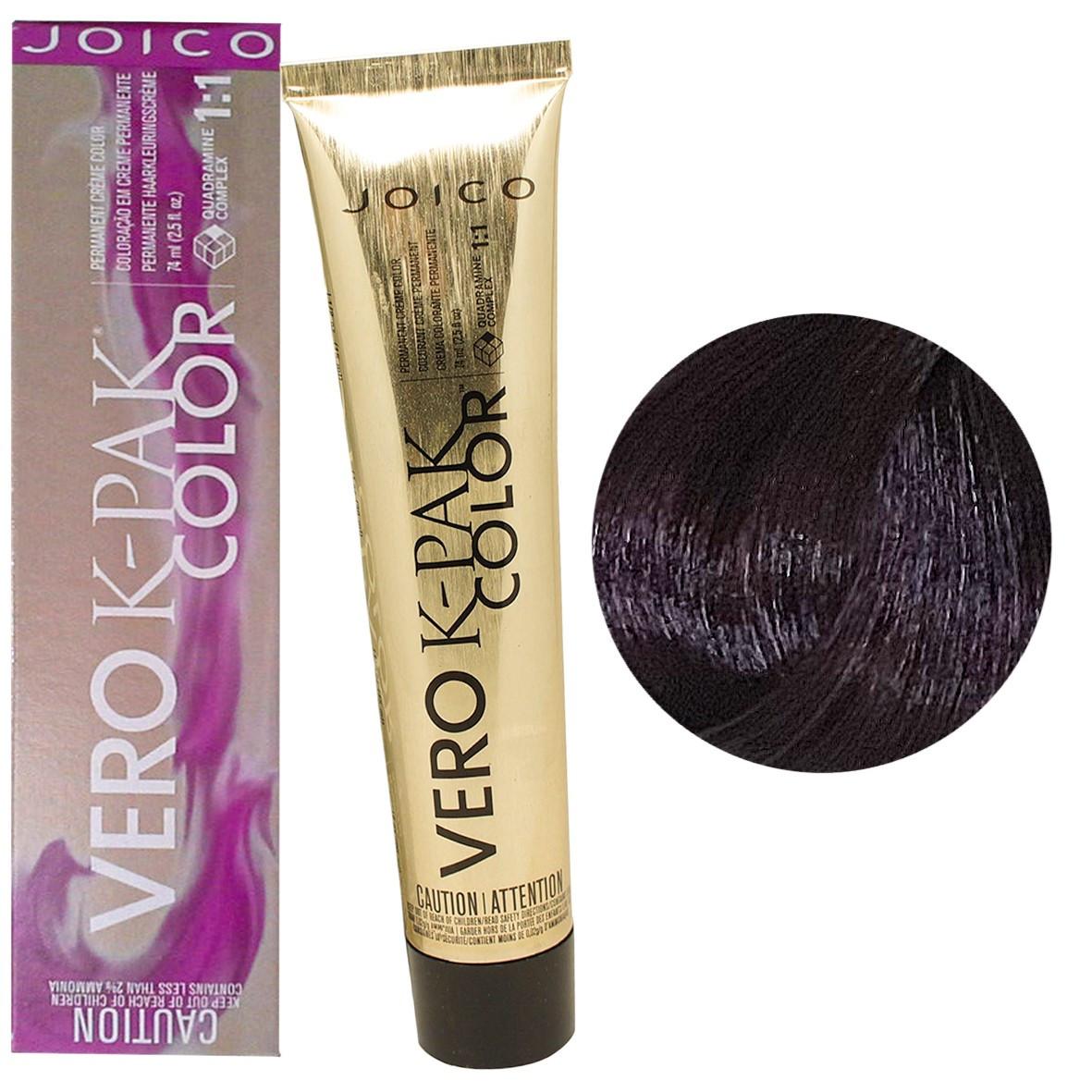 Краска для волос Joico Vero K-Pak Color в ассортименте 74 мл 4FV Темный коричневый огненно-фиолетовый (дикая