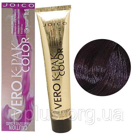 Краска для волос Joico Vero K-Pak Color в ассортименте 74 мл 4FV Темный коричневый огненно-фиолетовый (дикая, фото 2