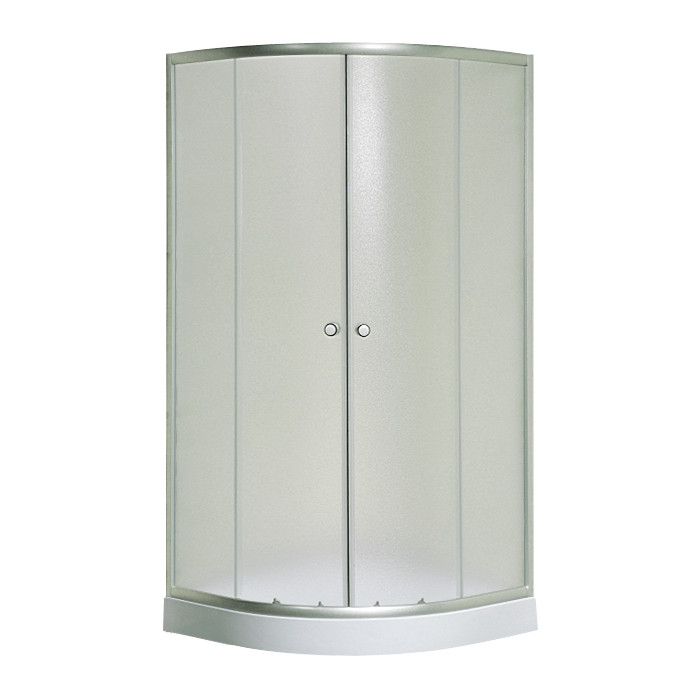 S-100/15 new, Sansa, душова кабіна 100 х 100 см, рама сатин, скло матове