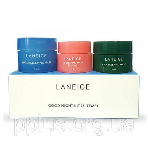 Набор ночных масок мини Laneige Good night 3 kit (10+15+3 г), фото 2