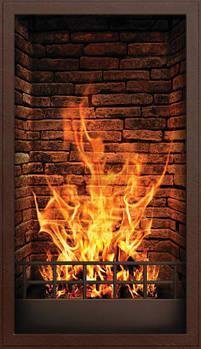 Инфракрасный настенный обогреватель-картина ТРИО 400W 100х57 см, камин 3D