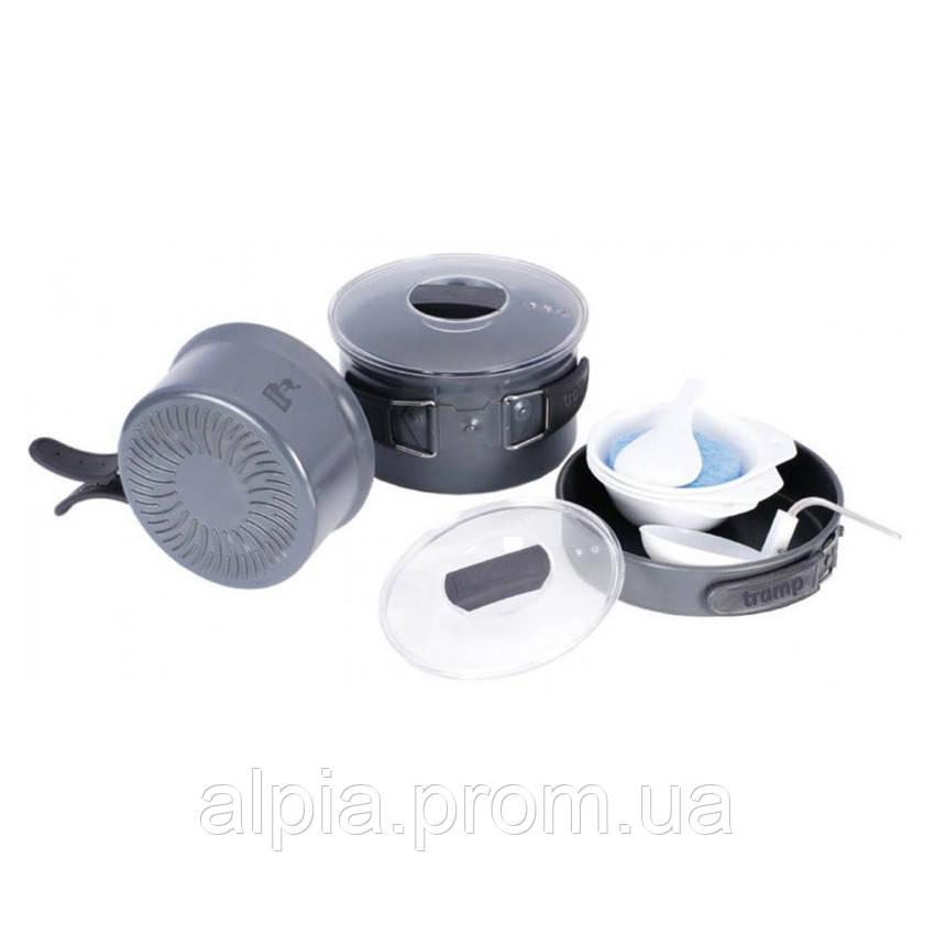Набор посуды из анодированного алюминия на 2-3 персоны (профилированное дно) Tramp TRC-034