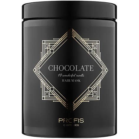 Маска для пересушених пористих і пошкоджених волосся Profis Chocolate 1000 мл, фото 2