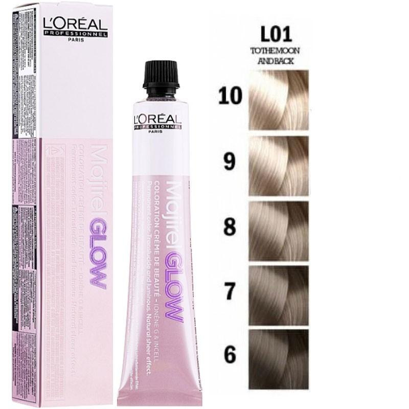 Полупрозрачная крем-краска для волос 01 LOreal Majirel Glow для светлых баз 50 мл