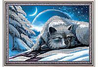 """Схема для вышивки бисером волки, """"Полярный сон"""""""