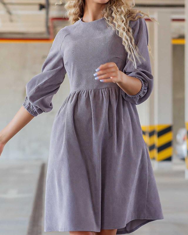 Нежное вельветовое платье для женщин