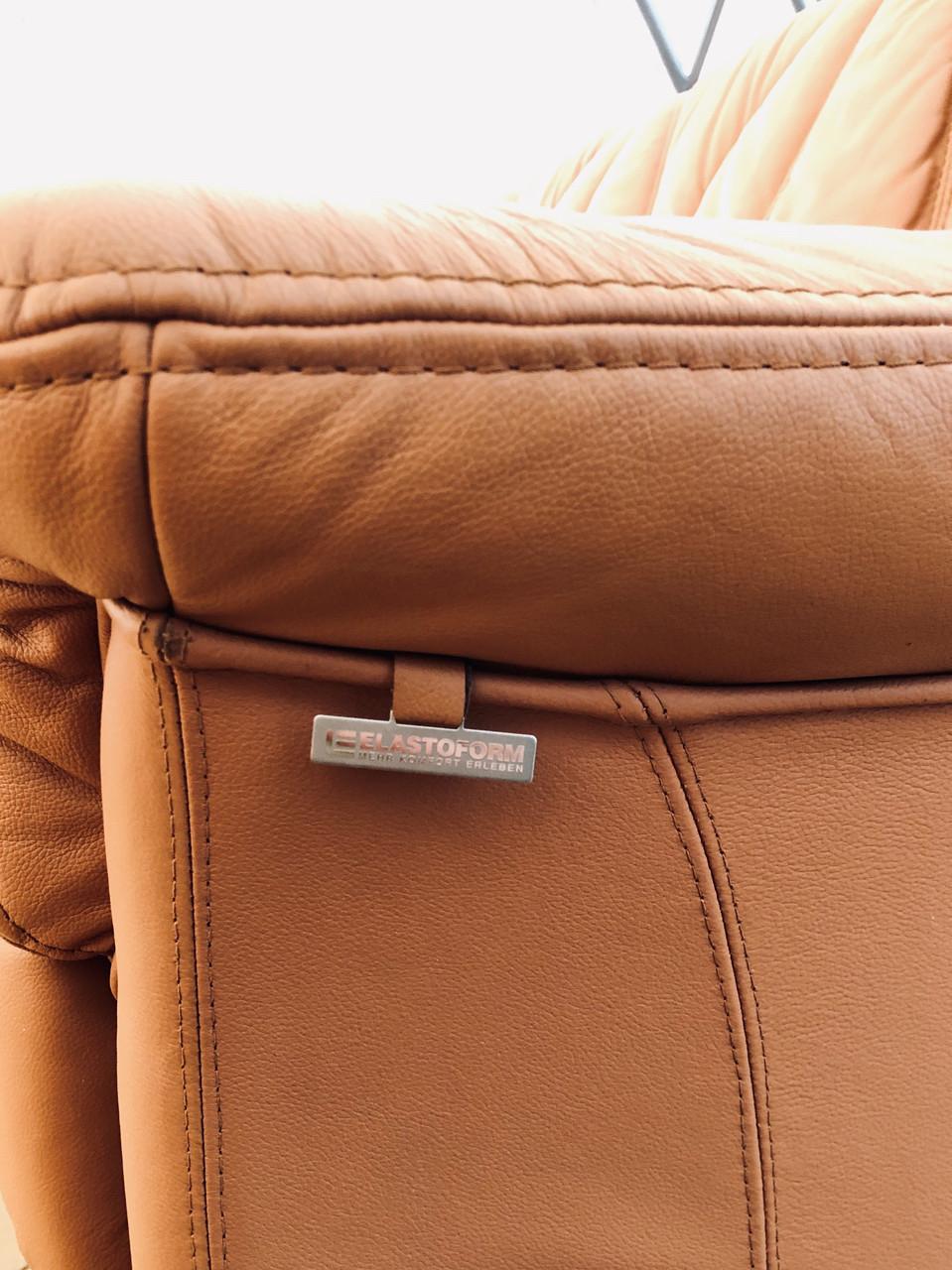 М'який шкіряний комплект диванів -Шавлія