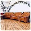 М'який шкіряний комплект диванів -Шавлія, фото 3