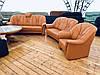 М'який шкіряний комплект диванів -Шавлія, фото 5