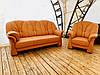 М'який шкіряний комплект диванів -Шавлія, фото 6