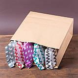 Пакет бумажный с широким дном 320*150*380 мм, упаковка 500 штук, фото 4